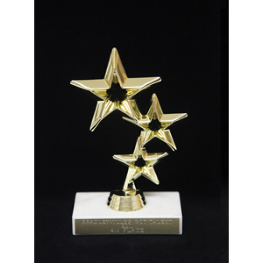 Rising Star Figure on Marble